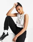 Calvin Klein Jeans - Hvid croptop med monogram