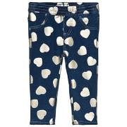 Guess Blue Heart Print Jeggings 6-9 months