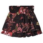 Petit by Sofie Schnoor Black Floral Print Ruffle Skirt 104 cm