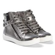 Michael Kors Silver Ivy Cadet Zip Sneakers 35 (UK 2.5)