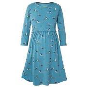 Frugi Blue Geese Jersey Smock Dress M