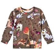 Molo Marina Sweatshirt Evergreen Flowers 98 cm (2-3 år)