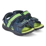 Geox Navy and Lime Gleeful Sandals 25 (UK 7.5)