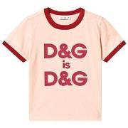 Dolce & Gabbana Pink Double Logo Tee 24-30 months