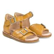 Angulus Yellow Leather Buckle Sandals 22 (UK 5)