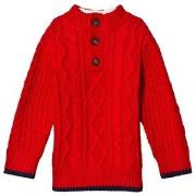 GAP Modern Red Henley Sweater 18-24 mdr