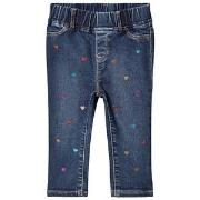 GAP Glitter Heart Jeggings Dark Wash 12-18 mdr