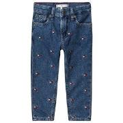Tommy Hilfiger All Over Flag Logo Jeans Denim Blue 92 (18-24 months)